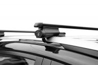 Багажник на крышу на высокие рейлинги LUX Belt прямоугольные поперечины 1.3м, 844031 (белт люкс)