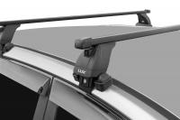Багажник на крышу БС3 LUX Hyundai Solaris 2017- седан прямоугольные поперечины 1.2м, 790852+846042+790289 (Хундай Солярис, люкс)