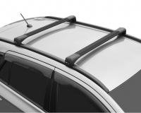 Багажник на крышу LUX Bridge Hyundai Santa Fe 2018- поперечины черный 82мм 793969+793983+792627 (хендай санта фе, люкс бридж 105/110)