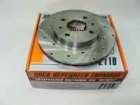 Диск тормозной передний ВАЗ 2112 Alnas Sport 2110-03 комплект 2шт (Лада 2110-2112, 2170, 1118 диски переднего тормоза вентилируемые R14 с перфорацией)
