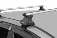 Универсальный багажник для иномарок D-LUX 1 аэродинамические поперечины 53 мм 1.3 м 846264+698874 Д-люкс
