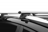 Багажник на крышу на высокие рейлинги LUX Элегант аэродинамические поперечины аэро-классик (люкс, 53мм) 1.2м, 842617