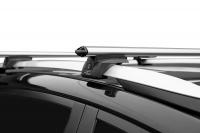 Багажник на крышу на высокие рейлинги LUX Элегант аэродинамические поперечины аэро-классик (люкс, 53мм) 1.1м