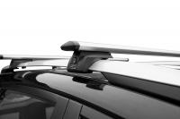 Багажник на крышу на высокие рейлинги LUX Элегант крыловидные аэродинамические поперечины аэро-трэвэл (люкс, 82мм) 1.3м, 846233