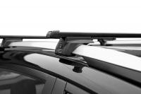 Багажник на крышу на высокие рейлинги LUX Элегант прямоугольные поперечины 1.4м (люкс)