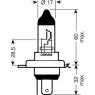 Галогенная лампа LYNXauto Super White H4 12V 60\55W 1шт, L10460B