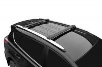 Багажник на крышу на высокий рейлинг LUX Hunter L55-B черный (люкс хантер) 791934
