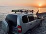 Корзина экспедиционная багажная Chevrolet Niva 2123 Евродеталь ED2-206N 1700х1200 мм (сталь, багажник Шевроле Нива ВАЗ с сеткой)