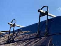 Багажник на водосток на высокую крышу Amos BUS BUS38+B180 комплект (4 стойки 2 балки, амос для газель)