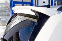 Спойлер на крышку багажника очищающий стекло Renault Duster 2011- АртФорм (окрашенный TE D69 серая платина, Рено дастер, яго)