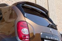Спойлер на крышку багажника очищающий стекло Renault Duster 2011- АртФорм (окрашенный TE D17 темный каштан, Рено дастер, яго)