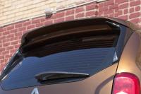 Спойлер на крышку багажника очищающий стекло Renault Duster 2011- АртФорм (окрашенный NV 676 черная жемчужина, Рено дастер, яго)