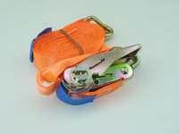 Стяжка крепежная груза с храповым механизмом и крюком Atlant 8970 1шт (ремень стяжной, атлант)