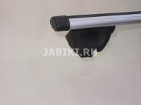 Багажник на крышу на рейлинги Inter Integra аэродинамические поперечины 1.3м без замков (на низкий, интегрированный рейлинг, Интер интегра)