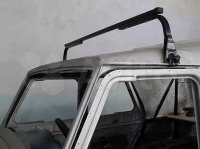 Багажник на крышу автомобиля с водостоками и широкой и низкой крышей Inter UAZ Hunter 1 полукомплект в сборе (интер хантер 469 уаз, высота крыши до 20см)