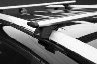 Багажник на крышу на высокие рейлинги LUX Классик крыловидные аэродинамические поперечины аэро-трэвэл (люкс, 82мм) 1.2м, 846189