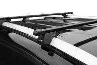 Багажник на крышу на высокие рейлинги LUX Классик прямоугольные поперечины люкс 1.4м, 842570