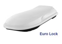 Спортивный автобокс YUAGO Euro Lock Cosmo 485л 2180х730х300 белый (бокс багажный с евро лок яго космо)