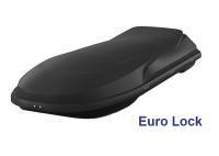 Спортивный автобокс YUAGO Euro Lock Cosmo 485л 2180х730х300 черный (бокс багажный с евро лок яго космо)