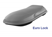 Спортивный автобокс YUAGO Euro Lock Cosmo 485л 2180х730х300 серый (бокс багажный с евро лок яго космо)