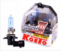 Галогенная лампа KOITO Whitebeam III HB3 12V 65W (120W) 4200K комплект 2 шт, P0756W (высокотемпературная)