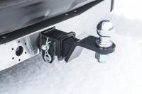 Фаркоп съемный квадрат Lexus NX 2014- PT Group 18021501 с накладкой из нержавеющей стали (лексус нх тсу прицепное устройство пт групп)