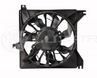 Электровентилятор охлаждения радиатора в сборе Luzar LFc0190 (ВАЗ 2190 Granta вентилятор, мотор охлаждения двигателя 21900-1332025-11)