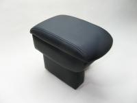 Подлокотник Line Vision для Hyundai Solaris 17- Люкс черный крепление на косноль и в подстканник (Хендай Солярис, лайн вижн на ноге 22005ILB)
