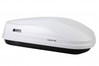 Бокс автомобильный багажный Евродеталь Магнум 350 белый карбон 1400х900х420мм (быстросъемный механизм крепления автобокс Magnum ED5-042B)