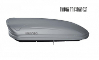 Автомобильный бокс MENABO Maraphon DARK 460 серый матовый 198х79х37 см (автобокс багажный, менабо марафот ME 924000)