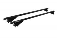 Багажник на крышу на интегрированные рейлинги MENABO Tiger Black XL 135 см (рейлинг низкий, менабо тайгер черный ME 860000)