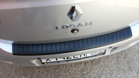 Накладка на задний бампер Renault Logan 2 2014- АртФорм (Рено Логан яго)