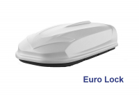 Автобокс YUAGO Optima EURO 390л белый, тиснение 140х78х40, одностороннее открывание (бокс-багажник яго оптима евро)