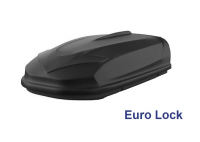 Автобокс YUAGO Optima EURO 390л черный, тиснение 140х78х40, одностороннее открывание (бокс-багажник яго оптима евро)