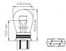 Лампа NARVA Standart P27/7W 12V 27/7W 1шт, 17945