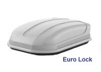 Автобокс YUAGO Pragmatic Euro Lock 410л серый, тиснение 1500х100х45 односторонее открывание (бокс-багажник на крышу с евро лок, Яго Прагматик)