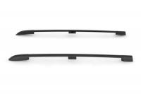 Рейлинги на крышу усиленные PT Group Lada Largus 2012- УСИЛЕННЫЕ (Черный Муар) комплект 2 шт (ПТ групп Лада Ларгус)