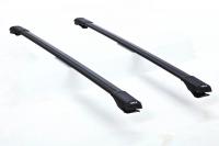 Багажник на крышу на высокие рейлинги Turtle SHARK TurSH1.106.Black черный (тартл шарк)