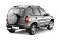 Рейлинги продольные на крышу с поперечинами УСИЛЕННЫЕ PT Group LNV551503 Chevrolet Niva 2002+ серый (шевроле нива пт групп)