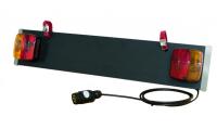 Световая панель для велокреплений Menabo Luci ME 276000 7-pin (рамка для номера с подсветкой 7 пин, менабо лучи)