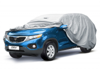 """Тент автомобильный PSV модель 20 """"D"""" 117117 4X4 с молнией размер 488-520x195x183 см"""