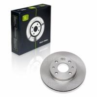 Диск тормозной передний 2110 R13 Trialli DF135 комплект 2шт вентилируемые (диски тормозные 2110, ВАЗ)