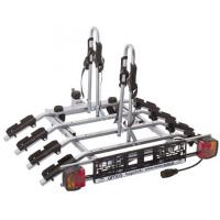 Крепление для перевозки четырех велосипедов на фаркопе Amos Tytan 4 plus (велокрепление на четыре велосипеда, с функцией наклона, Титан Амос плюс TITAN4PLUS)