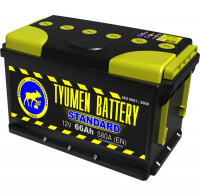 Аккумулятор Тюменская батарея 66 А\ч прямая полярность